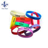Preiswertes kundenspezifisches Silikon-Gummiband - Handgummiband-Armbänder