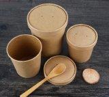 يأخذ [ميكرووفبل] [كرفت] خارجا فنجان مع غطاء حساء قابل للتفسّخ حيويّا حارّة [ببر كب]