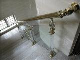 Metal Escalera con pasamanos de acero inoxidable y soportes de apoyo duradero