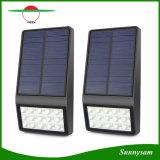 éclairage solaire actionné solaire de degré de sécurité de mur de lumière de détecteur radar à micro-ondes de la lampe 15LED de support de chemin extérieur de jardin