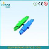 E2000 de Optische Adapters van de Vezel met Met beperkte verliezen bij 0.2dB met Plastic Blauw Huis