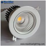 6W-35W blanc argenté mobile/COB LED Spot encastrable au plafond