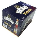 Flaschen-Bier-Kasten der Pappe24, der Material-neuen Entwurf aufbereitet