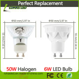 GU10 LED 전구 6W (50W 할로겐 동등물) 자연적인 Daylgiht 백색 4000K에 의하여 중단되는 점화