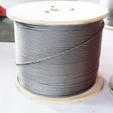 AISI 316 7*7 Stainless Steel Rope, Round Wire Cable