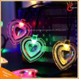 Energia solar em forma de coração 50levou a luz de String de fadas para decoração de Festa de Natal