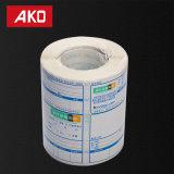 Le rouleau de papier thermique Stickers étiquette vierge
