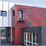 Revêtement mural extérieur aluminium panneau sandwich Honeycomb panneau composite aluminium
