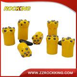 P34 7 Botones Botón cónico Broca de carburo de tungsteno para Rock