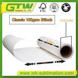 100 g de la sublimación de papel para la transferencia de metal en el tamaño de rollo
