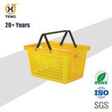 28L Grosso Supermercado duas pegas de plástico PP cesto de compras