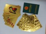 Cartes de jeu de dollar US, cartes de jeu d'or