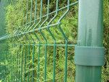 Acoplamiento de alambre soldado que cerca la cerca revestida del jardín del PVC de los paneles