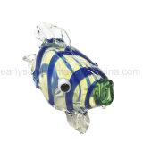 Blaue gestreifte tropische Fisch-Glashandrohr (ES-HP-127)