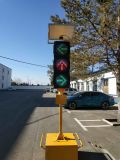 12 인치 ODM & OEM 태양 노란 번쩍이는 소통량 경고등
