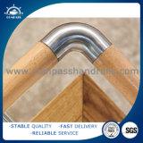 Encaixe da balaustrada do cotovelo do aço inoxidável/encaixe de madeira