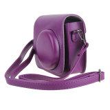 Новый провод фиолетового цвета кожи камера ремешок крышки подушек безопасности чехол для фотокамеры для FUJI Fujifilm Instax Mini 8 принадлежностей