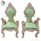 最高背部食事の椅子Hly-Sf91が付いているホテルの家具の骨董品の王または女王の椅子