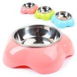 Gostavas de Taça de cães em aço inoxidável de plástico