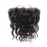 Frontal brasileiro do laço do cabelo 13X4 de Remy da onda com cabelo do bebê