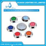 Il Ce RoHS IP68 scalda l'indicatore luminoso subacqueo bianco della piscina di colore LED di RGB per il raggruppamento