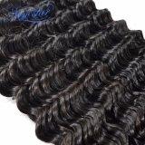 Estensione di trama dei capelli umani del Virgin dell'onda profonda malese di prezzi bassi