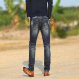人(HDMJ0012-17)のためのまっすぐな足を搭載する高品質によって壊される洗浄のジーンズ