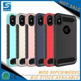 Cubierta a prueba de choques del teléfono del caso de la capa dual para el iPhone 8 más