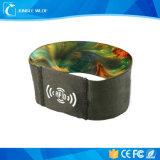 Tejido de poliéster ecológica NFC Pulsera de tejido para eventos