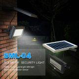 Niedriger MOQ Solargarten beleuchtet Sicherheits-Lampe des Wand-helle Edelstahl-PIR