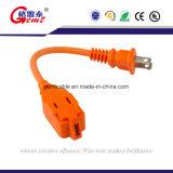 USA 2 Pin Wechselstrom-Netzkabel-Stecker-Amerikaner2 Pin-Extensions-Netzanschlusskabel