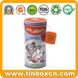 Caja del estaño del té de la Navidad del metal para el rectángulo de almacenaje de las bolsitas de té