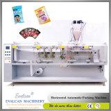 Horizontal de llenado automático de polvo formando el sellado de máquinas de embalaje Bolsa Bolsa plana