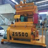 Les arbres de double alimentation d'usine JS500 Bétonnière