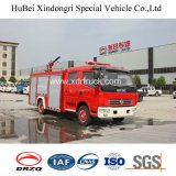 Réservoir intérieur de double de rangée de Dongfeng 4ton camion de pompiers de cabine