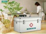 9 인치 은 Portabel 금속 응급조치 상자