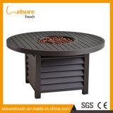 Jardim moderno Hotel Fire Pit Tabela Cadeira de refeições em casa de vime mobiliário do Aquecedor de Ar Livre