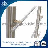Barandilla del acero inoxidable con el vidrio para la escalera o el balcón