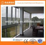 Perfiles de aluminio sacados para la ventana del acondicionador de aire/las lumbreras de aluminio