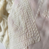 女性のためのDress Fabric Georgieの刺繍された絹