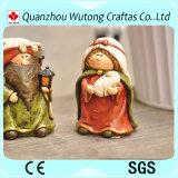 Handgemachte angestrichene dekoratives Harz-Weihnachtsfigürchen-Geburt Christi-gesetzte Felder