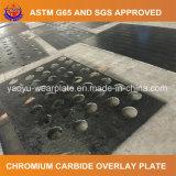 Plaque d'usure de carbure de chrome pour la doublure de véhicule de mine