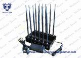 12バンドGSM Dcs Rebolabile 3G 4G WiFi GPSの衛星電話車の遠隔妨害機(315-433-868のMHz)