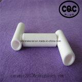 La buona durezza ha lustrato il tubo di ceramica dell'allumina di 95%