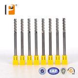Três ferramentas de alumínio Floutes carboneto sólido para alumínio e madeira