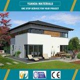 El panel móvil de la ISO AAC del chalet de la casa prefabricada y estructura de acero de H