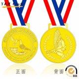 صنع وفقا لطلب الزّبون علامة تجاريّة رياضة مكافأة معدن نوع ذهب فضة برونز فراغ وسام