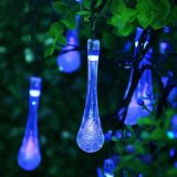 Indicatori luminosi leggiadramente solari caldi della stringa ghiacciolo bianco/freddo di bianco/Bule/RGB, 19.5FT prova dell'acqua dei 30 LED per esterno, giardino, partito, cerimonia nuziale, natale e decorazione di festa
