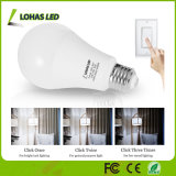 Régler l'ampoule à trois voies d'éclairage LED de l'éclat 5000K de l'éclat 2W-8W-17W 10%-45%-100%