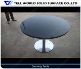 人工的な大理石の石造りのファースト・フードのレストランの家具の円形のダイニングテーブル